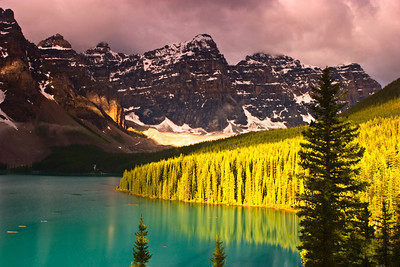 Moraine Lake in Banff National Park, Alberta Canada.