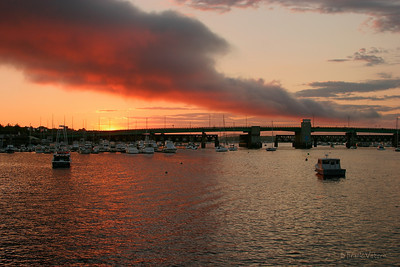 Merrimack River Sunset, Newburyport, Massachusetts