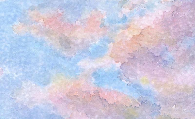 """Sky-Blue Pink""  -  watercolor on prepared board - 5"" x 7"""
