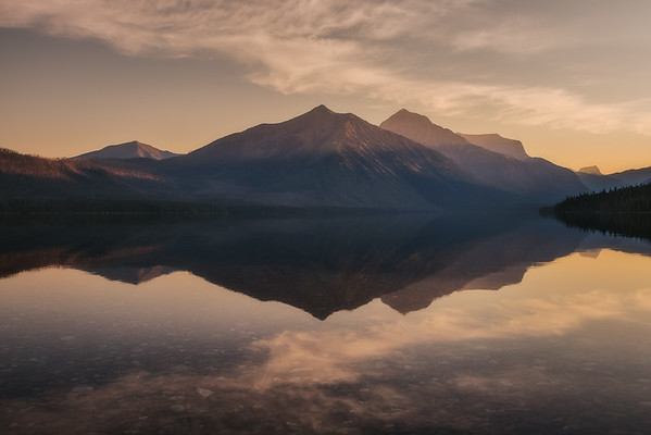 Dawn at Lake McDonald