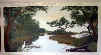 fountain marsh scene