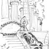 More details from the Park Guell in Barcelona. These giant pillars held up another level of the park.
