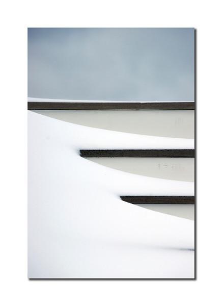 Snow on Steps, Nantucket