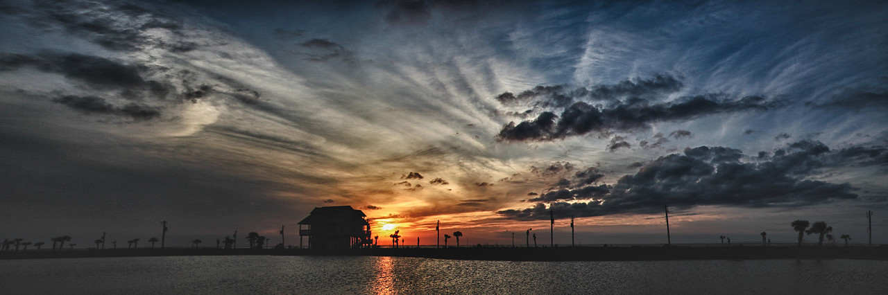 "Galveston Sunset<br /> 72"" x 12"" Print  - $250<br /> Other sizes and mounting available"