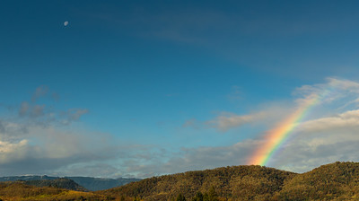 Moon and Rainbow