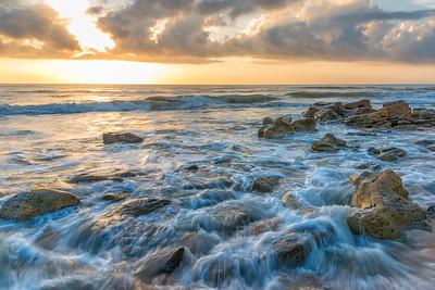 Coquina Rocks at Mainland Beach, Florida