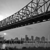 Black and White New Orleans sunset