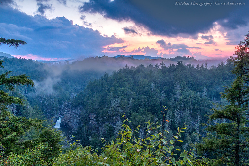 Linville Falls Sunset