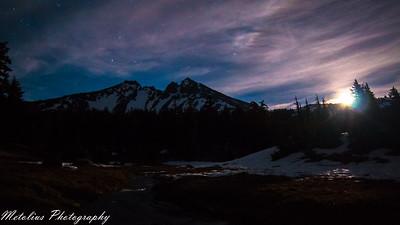 Moonrise over Broken Top