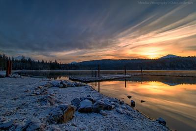 Late Winter Sunrise at Elk Lake
