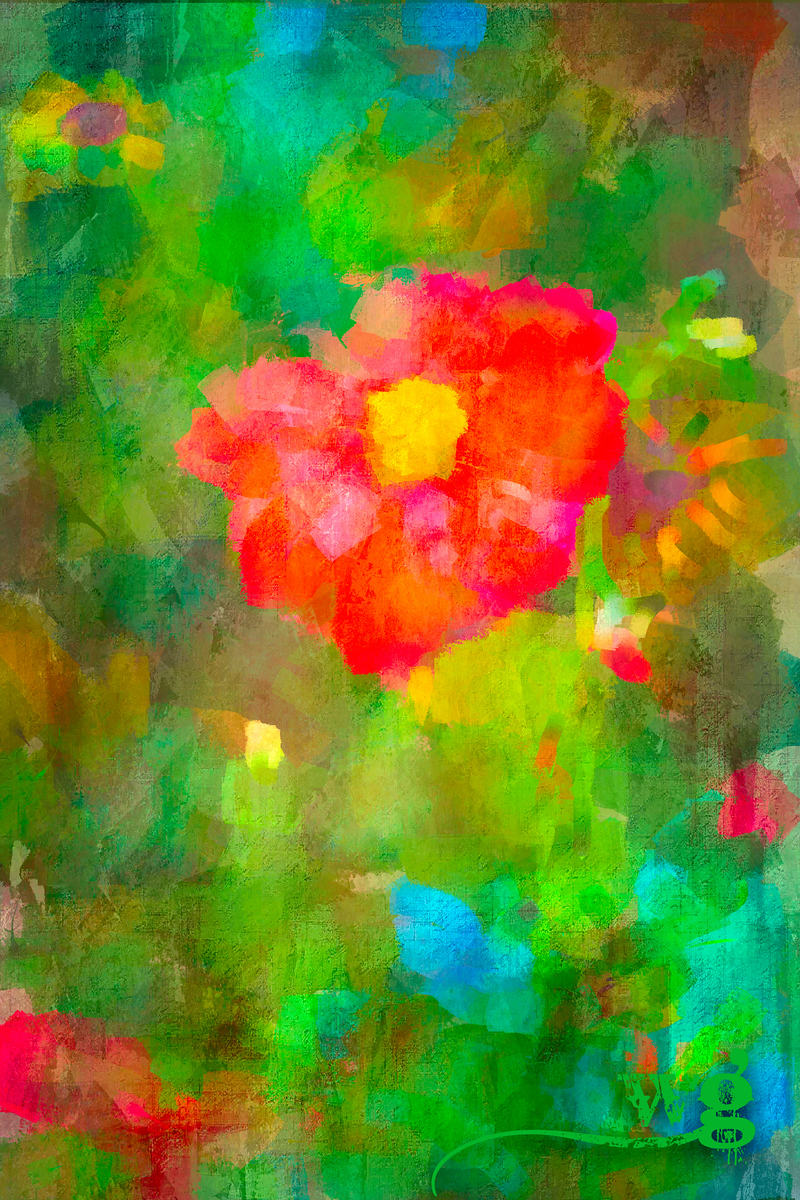 Red Dalia in Monet's Garden best-Edit