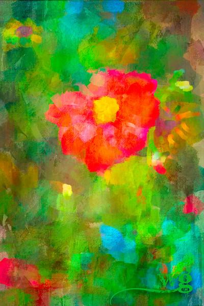 Red Dalia in Monet's Garden best-Edit