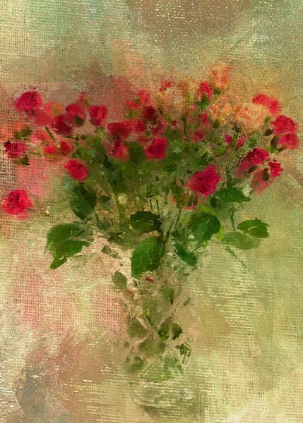 Buds in a Vase Garden Canvas