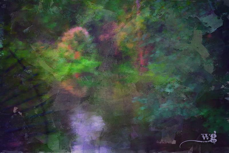 Monet's Stream Painted Cloned
