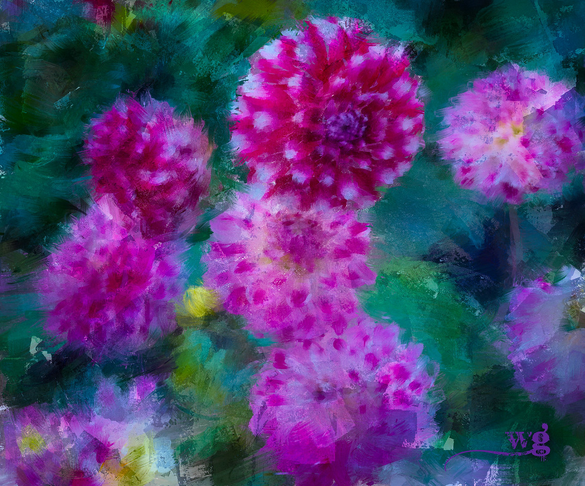 Dahlias of Monet's Garden Texture