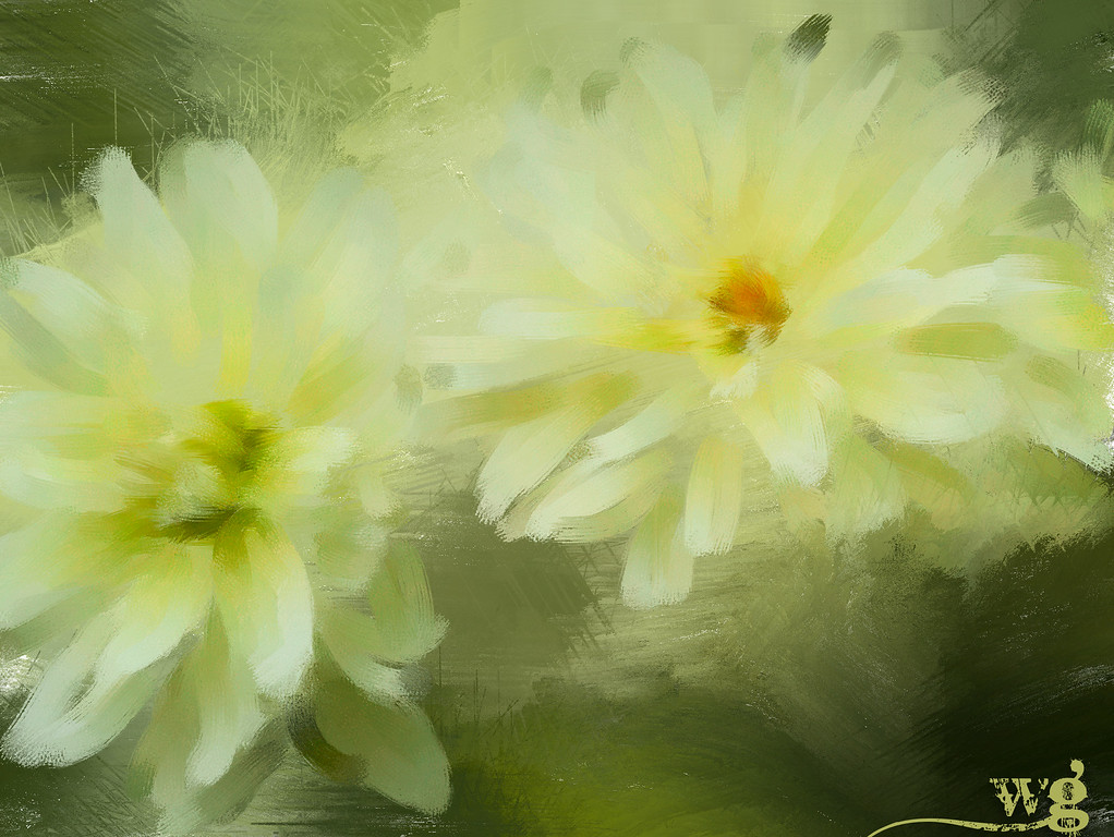 Monet;s Yellow Dahlias