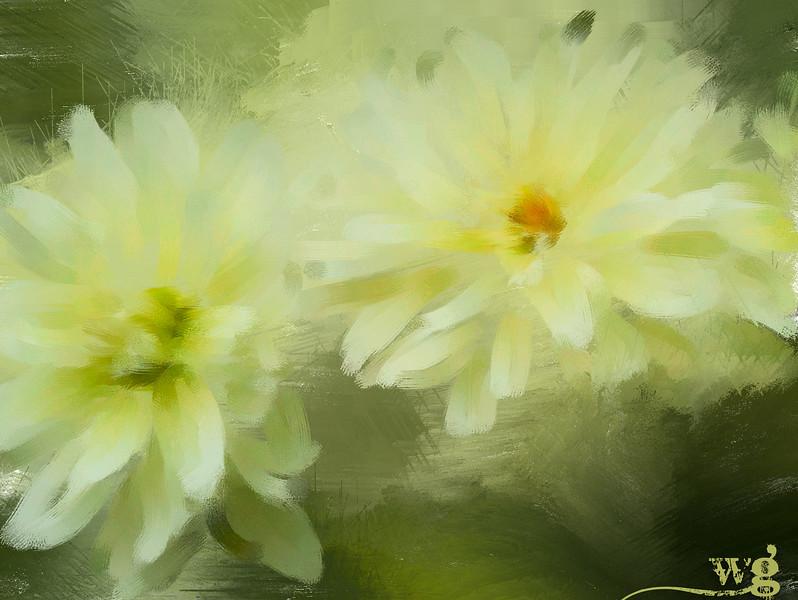 Monet;s Yellow Dahlias