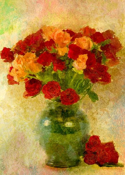 Rose buds Antique Rose Hard light yelow