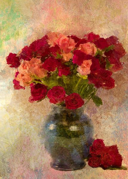 Rose buds Antique Rose Hard light