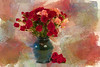 Mini Roses Painted Landscape Antique rose2