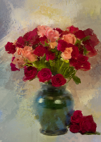Rose buds PaintedRush of Winter