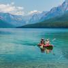 Kayakers on Bowman Lake