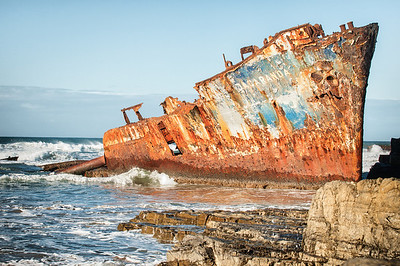 The wreck of the Jacaranda, Transkei coast, South Africa