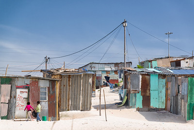 Children in Khayelitsha Township, Cape Town South Africa