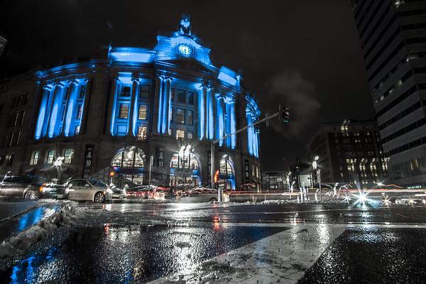 South Station Night Lights.