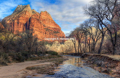 Virgin River Sunrise, Zion Park