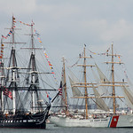 USS Constitution and USCGC Eagle
