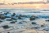 Sunrise, Coquina Rocks at Mainland Beach, Florida