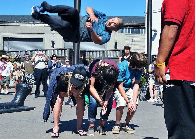 Flying Street Performer