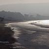 Foggy Ocean Beach at Dusk
