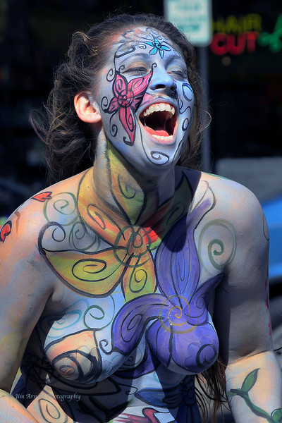 Screaming Body Paint