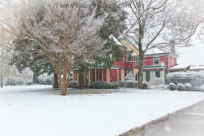 A snowy day in historic Smithfield, VA