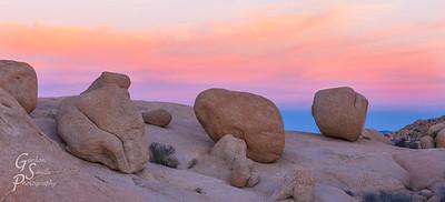 Irregular Rocks at Dusk
