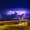 Lightning storm mushroom at Redcliffe Jetty