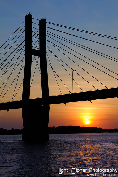 Quincy Bridge Sunset (portrait)