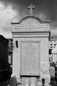 Famille de R delNodal, St. Louis Cemetery, New Orleans