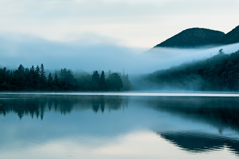 Lake O'Law Morning Mist 2 Along The Cabot Trail, Margaree, Cape Breton Island, Nova Scotia, Canada