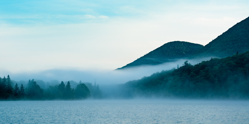 Lake O'Law Morning Mist 6 Along The Cabot Trail, Margaree, Cape Breton Island, Nova Scotia, Canada