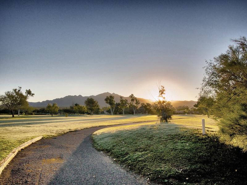 """Colf Cart Path at sunrise""  TGR"