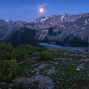 The Moon, a Meadow, and a Glacier