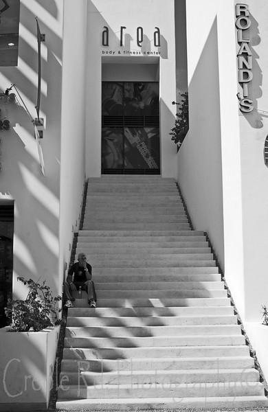 Stairs in Playa del Carmen (Black and White)