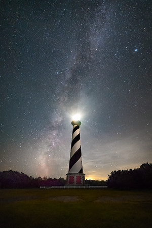 Cape Hatteras Light Milky Way
