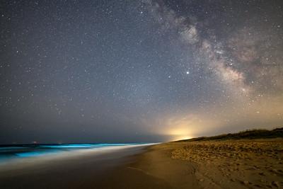 Bioluminescence and Milky Way