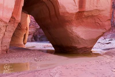 Under Slide Rock Arch