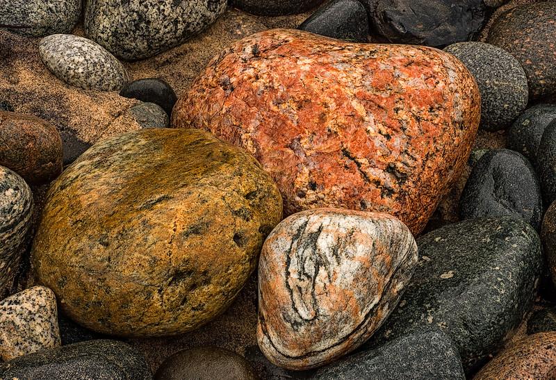 Rocks on Lake Superior Shoreline