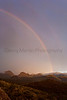 Rainbow at sunset<br /> Brewster County, Texas.